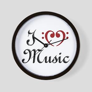 I Heart (Love) Music Wall Clock