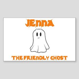 Jenna The Friendly Ghost Rectangle Sticker