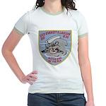USS EVERETT F. LARSON Jr. Ringer T-Shirt