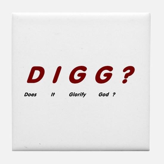 Digg Tile Coaster