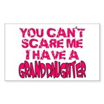 Scare Me - Granddaughter Rectangle Sticker
