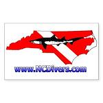 NC Diver Rectangle Sticker