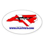 NC Diver Oval Sticker