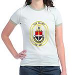 USS ELLIOT Jr. Ringer T-Shirt