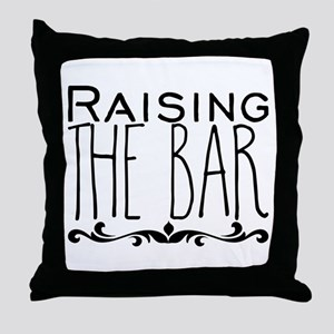 Raising the Bar Throw Pillow