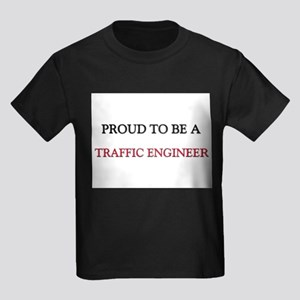 Proud to be a Traffic Engineer Kids Dark T-Shirt