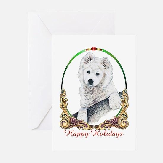 Samoyed Happy Holidays Greeting Cards (Pk of 10)
