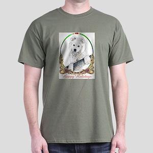 Samoyed Happy Holidays Dark T-Shirt