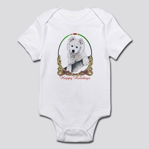 Samoyed Happy Holidays Infant Bodysuit