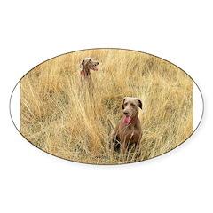 The Great Dane Sticker (Oval 10 pk)