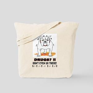 BullDog With Attitude Tote Bag