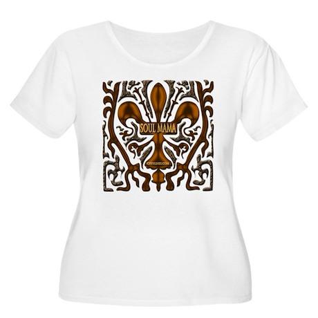 Soul Mama Women's Plus Size Scoop Neck T-Shirt
