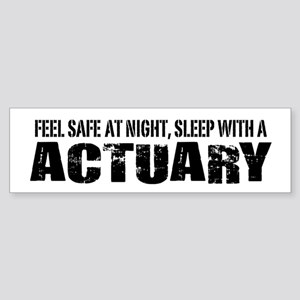 Feel Safe at Night Sleep with an Actuary Sticker (