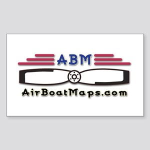 AirBoatMaps Rectangle Sticker