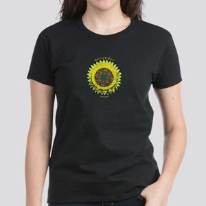 Chainring Sunflower Women's T with Yellow Text
