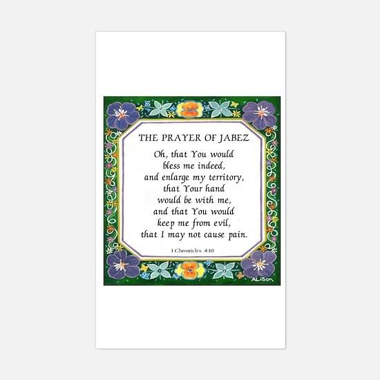 2 Prayers: Prayer of Jabez a Rectangle Decal
