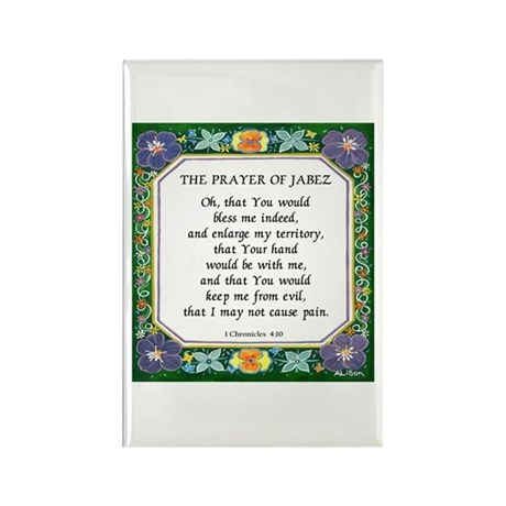 2 Prayers: Prayer of Jabez a Rectangle Magnet