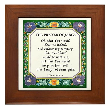 2 Prayers: Prayer of Jabez a Framed Tile