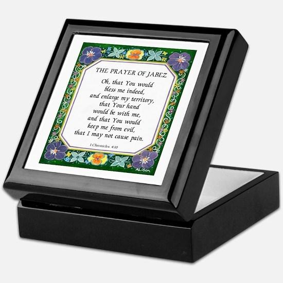 2 Prayers: Prayer of Jabez a Keepsake Box