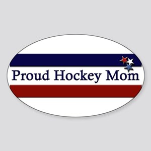 Proud Hockey Mom Oval Sticker