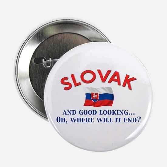 "Good Lkg Slovak 2 2.25"" Button"
