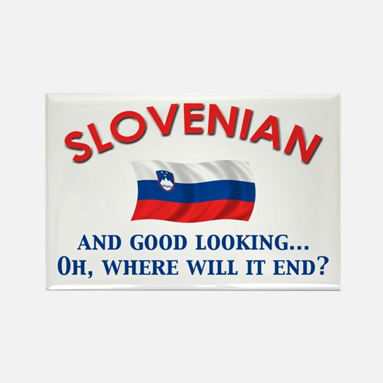 Good Lkg Slovenian 2 Rectangle Magnet