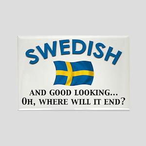 Good Lkg Swedish 2 Rectangle Magnet