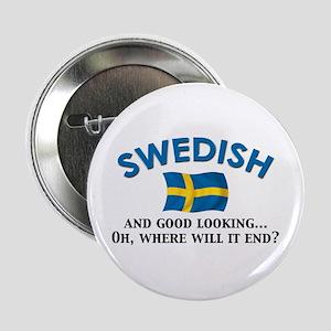 "Good Lkg Swedish 2 2.25"" Button"