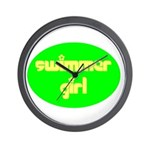 Swimmer Girl Wall Clock