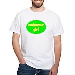 Swimmer Girl White T-Shirt