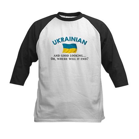 Good Lkg Ukrainian 2 Kids Baseball Jersey