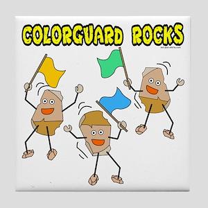 Colorguard Rocks Tile Coaster