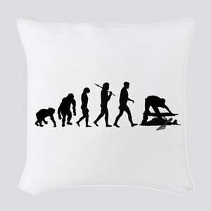 Archaeologist Woven Throw Pillow