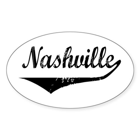 Nashville Oval Sticker