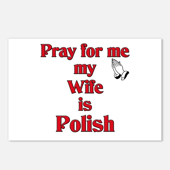 Pray for me my wife is Polish Postcards (Package o