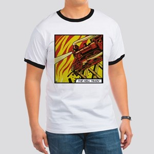 'The Hell Train' Ringer T-Shirt With Backprint
