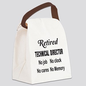 Retired Technical Director Canvas Lunch Bag
