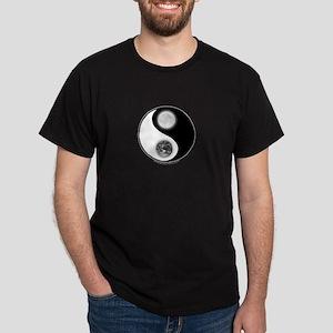 Yin Yang Earth Moon Dark T-Shirt