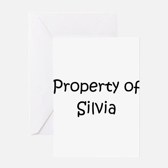 Unique Silvia Greeting Card