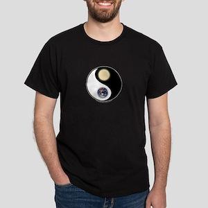 Yin Yang Earth Sun Dark T-Shirt