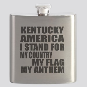 I Stand For Kentucky Flask