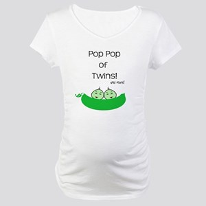 Pop Pop of twins and more Maternity T-Shirt