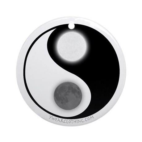 Yin Yang Moon Sun Ornament Round By Ywearclothing