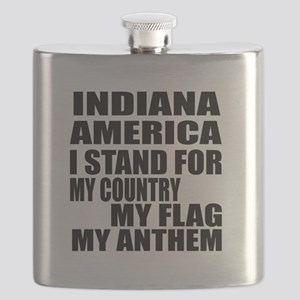 I Stand For Indiana Flask
