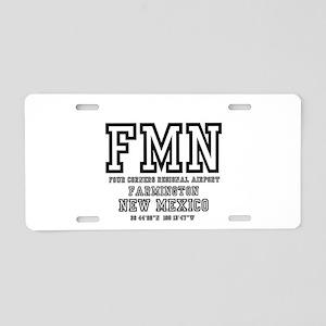 AIRPORT CODES - FMN - FARMI Aluminum License Plate