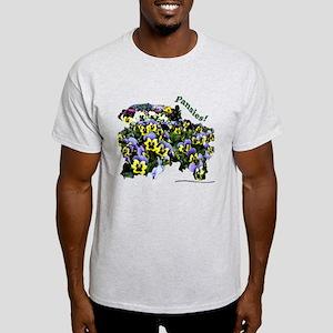 3020B Purple Yellow Pansies Light T-Shirt