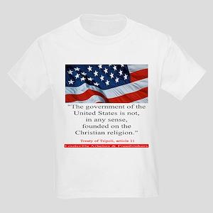 Not A Christian Nation Kids Light T-Shirt