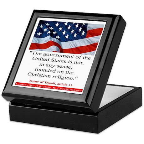 Not A Christian Nation Keepsake Box