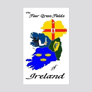 """The Four Green Fields"" Rectangle Sticker"