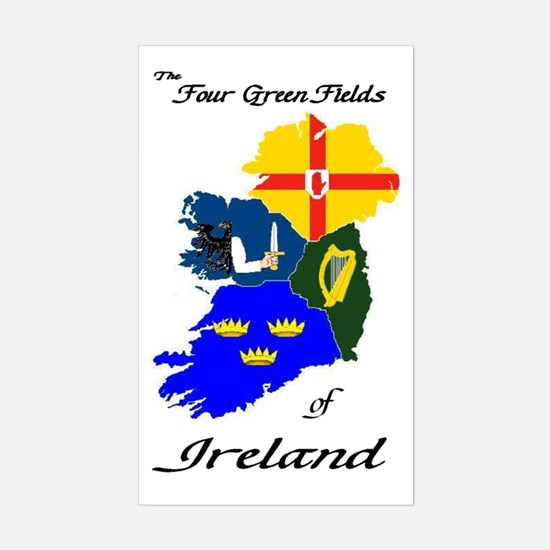 """The Four Green Fields"" Rectangle Decal"